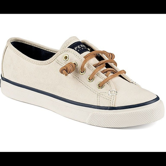 5e7383ad434 Sperry Top-Sider Seacoast Canvas Sneaker Boat Shoe.  M 5b27437134a4efb50826f3b8